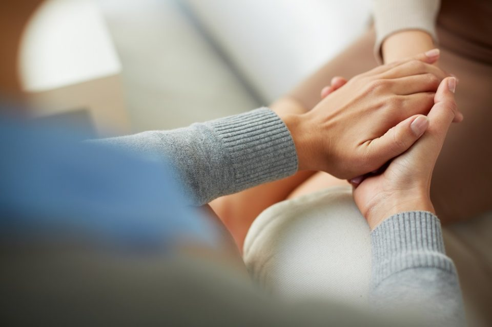 Psychological support for virus-infected persons